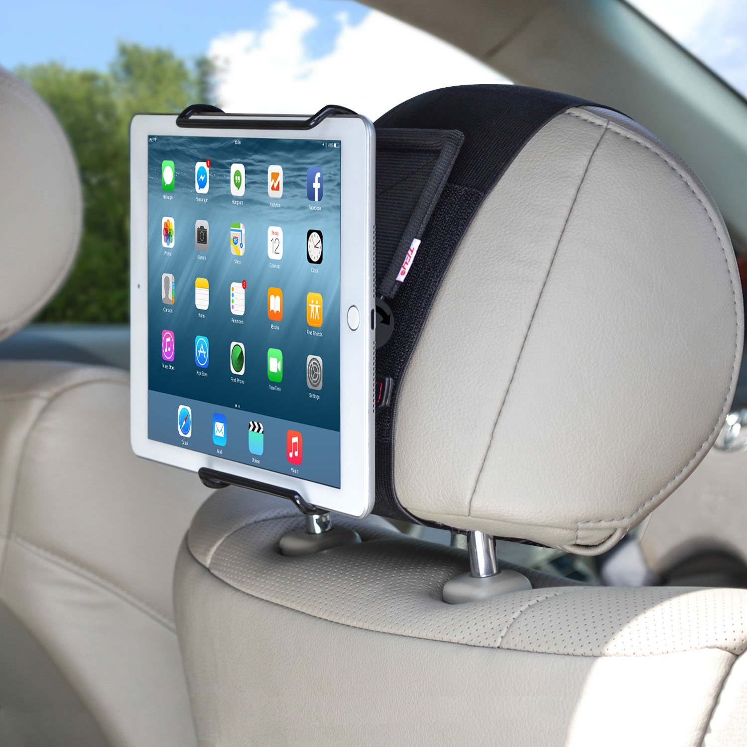 TFY Universal Car Headrest Mount Holder with Angle - Adjustable ...