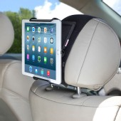 TFY Universal Car Headrest Mount Holder with Angle - Adjustable Holding for 6 - 12.9 Inch Tablets