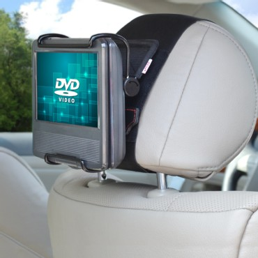 TFY Car Headrest Mount with Angle- Adjustable Clamp for 7-10 Inch DVD Players