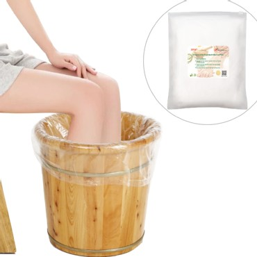 TFY Large Disposable Film Plastic Liner Bags for Foot-bath Barrel - 20 Pieces