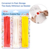 TFY Self-locking Strong Tensile Strength Nylon Cable Fastening Ties for Home and Office Uses